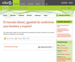 El mercado laboral ¿igualdad de condiciones para hombres y mujeres?