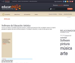 Softwares de Educación Artística (Educarchile)