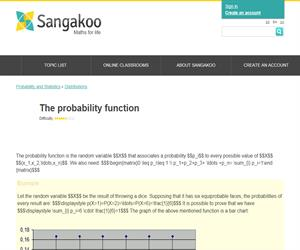 The probability function