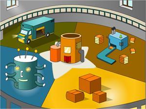 Juegos de los mundos (Nivel 1). La fábrica de juguetes