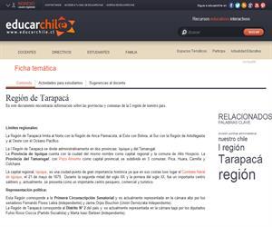 1era Región - División política administrativa (Educarchile)