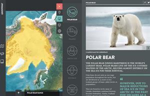 Mapa interactivo del Ártico