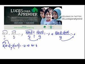 Luces para aprender - Ecuación de primer grado