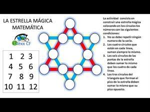 Estrella mágica matemática.