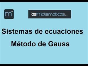 Sistema de ecuaciones, método de Gauss