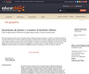 Incursiones de piratas y corsarios al territorio chileno (Educarchile)