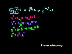 Propiedades del logaritmo 1 (Khan Academy Español)