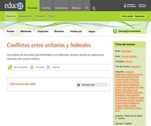 Conflictos entre unitarios y federales