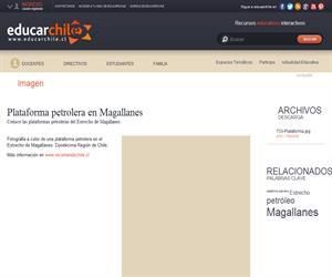 Plataforma petrolera en Magallanes (Educarchile)