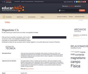 Serie Física Entretenida: Magnetismo CA (Educarchile)