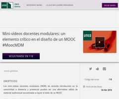 Mini-vídeos docentes modulares en el diseño de un MOOC