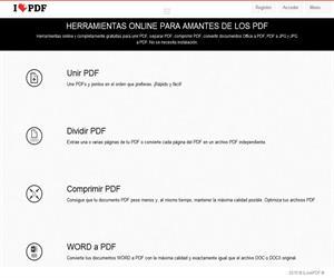 Herramienta online para unir o dividir archivos PDF