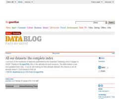 The Guardian: All our datasets: the complete index. Linked Data