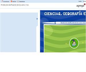Niveles de clasificación de los seres vivos (Proyecto Agrega)