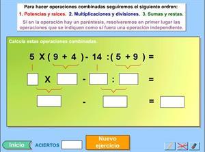 Combina operaciones: jerarquía y uso del paréntesis (Genmagic)