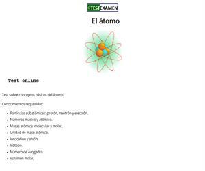 Test sobre el átomo