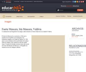Fuerte Mancera, Isla Mancera, Valdivia (Educarchile)