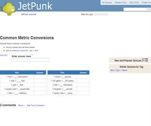 Common Metric Conversions