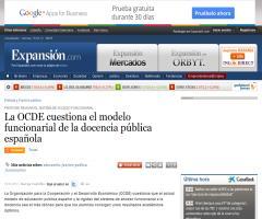La OCDE cuestiona el modelo funcionarial de la docencia pública española | Expansión