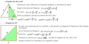 Resolución de triángulos rectángulos  - 1º Bach