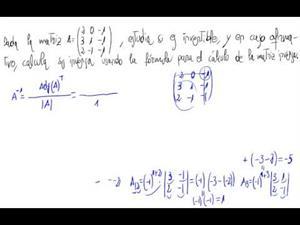 Inversa de una matriz 3x3 (Fórmula)