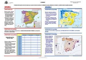 Examen de Selectividad: Geografía. Asturias. Convocatoria Junio 2014
