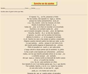 113ª Ficha de ortografía de Don Quijote de la Mancha