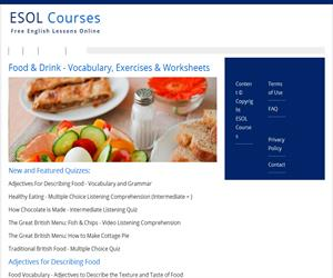 Food and drink vocabulary (esolcourses)