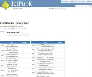 21st Century History Quiz
