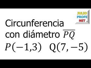 Ecuación de una circunferencia dados los extremos de un diámetro (JulioProfe)