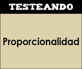 Proporcionalidad. 4º ESO - Matemáticas (Testeando)