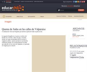 Quema de Judas en las calles de Valparaíso (Educarchile)