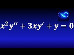114. Ecuación diferencial de Cauchy Euler con raíz múltiple. Ejercicio resuelto.