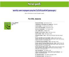 Social Spotify for ESL Lessons