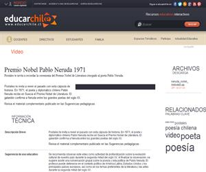 Premio Nobel Pablo Neruda 1971 (Educarchile)