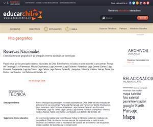 Reservas Nacionales (Educarchile)