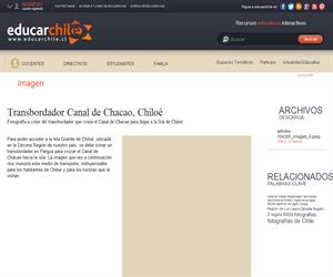 Transbordador Canal de Chacao, Chiloé (Educarchile)