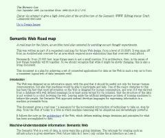 """""""Semantic Web Road map"""", artículo de Tim Berners-Lee que marcaba la hoja de ruta de la web semántica (1998)"""