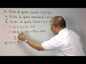 Problema de 3 ecuaciones con 3 incógnitas (JulioProfe)