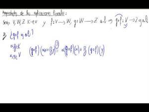 Propiedad de aplicaciones lineales - Composición