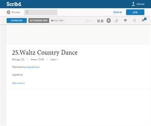 WaltzCountryDance, ficha de la danza