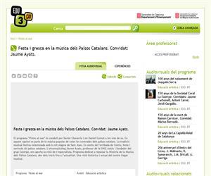 Festa i gresca en la música dels Països Catalans. Convidat: Jaume Ayats. (Edu3.cat)