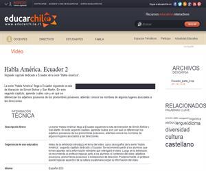 Habla América. Ecuador 2 (Educarchile)