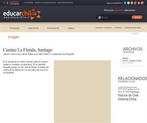 Camino La Florida, Santiago (Educarchile)