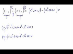 Operaciones con potencias de polinomios
