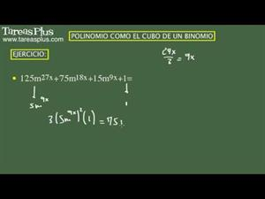 Polinomio como el cubo de un binomio. Ejercicio 8 de 15 (Tareas Plus)