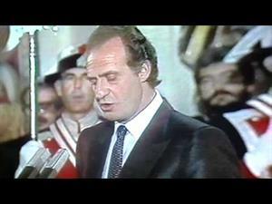 Rey Juan Carlos preside entrada de España en la Unión Europea.