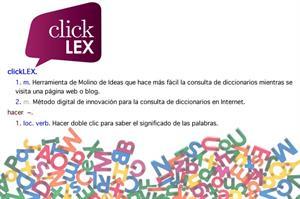 clickLEX: búsquedas en diccionarios desde tu navegador o web