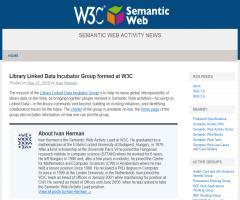 Formado en el W3C el Grupo Library Linked Data Incubator
