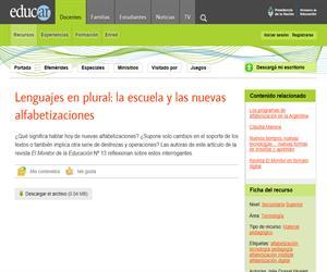 Lenguajes en plural: La escuela y las nuevas alfabetizaciones